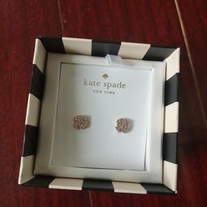 Kate Spade signature spade RG stud earrings
